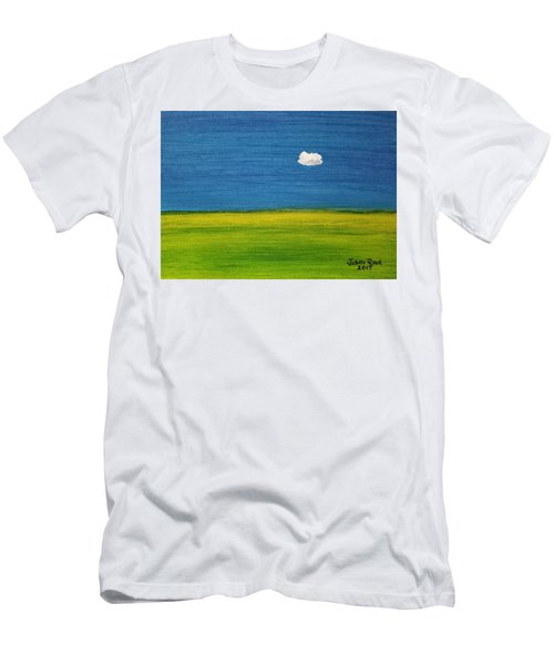 Men's T-Shirt (Athletic Fit) featuring the painting Alone And Fine by Judith Rhue