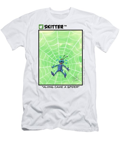 Along Came A Spider Panel Men's T-Shirt (Athletic Fit)