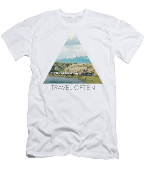 Along The Yellowstone Men's T-Shirt (Athletic Fit)