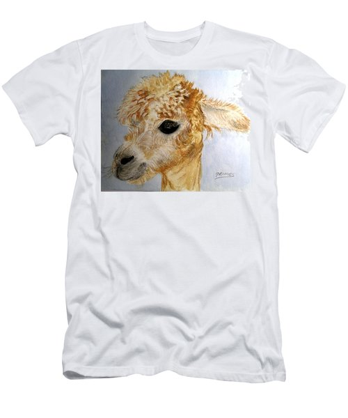 Alpaca Cutie Men's T-Shirt (Slim Fit) by Carol Grimes