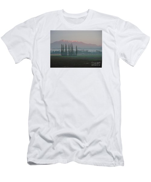 Men's T-Shirt (Slim Fit) featuring the photograph Alpenglow  by Jeanette French