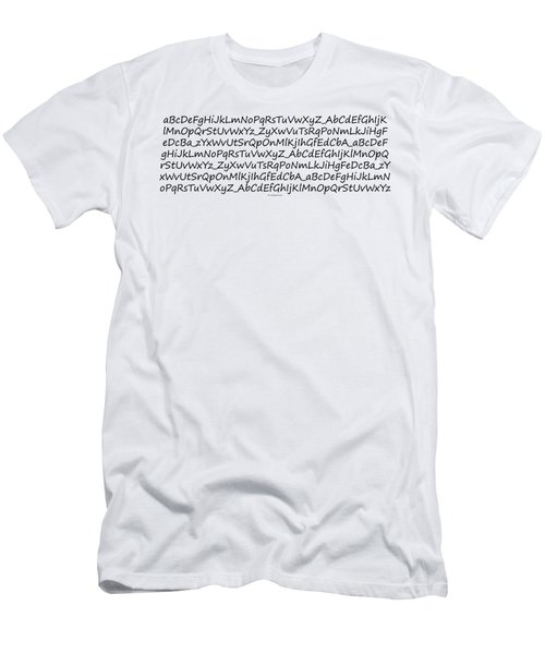 Alphabet Men's T-Shirt (Athletic Fit)