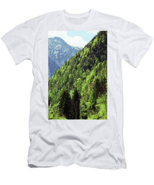 Alpine View In Green Men's T-Shirt (Athletic Fit)