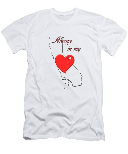 Men's T-Shirt (Athletic Fit) featuring the digital art Always In My Heart Ca by Judy Hall-Folde