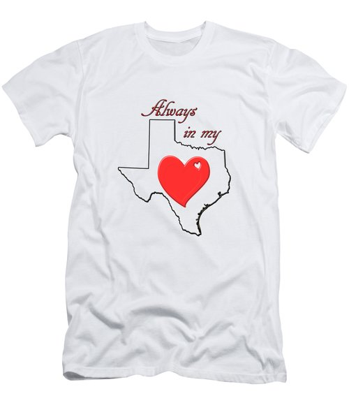 Men's T-Shirt (Athletic Fit) featuring the digital art Always In My Heart Tx by Judy Hall-Folde