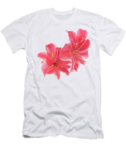 Amaryllis On White Men's T-Shirt (Athletic Fit)