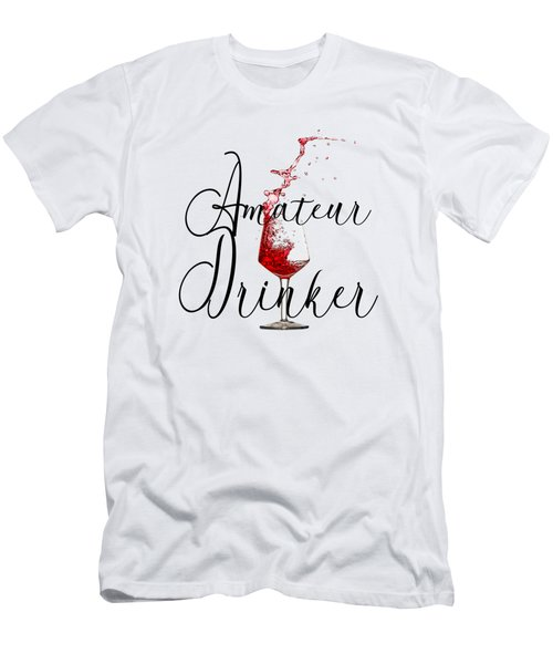 Amateur Drinker Visual Inspiration For Home Decor And Apparels  Men's T-Shirt (Athletic Fit)