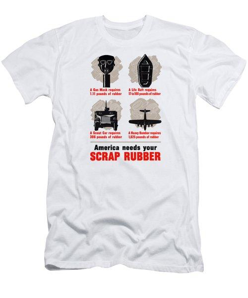 America Needs Your Scrap Rubber Men's T-Shirt (Athletic Fit)