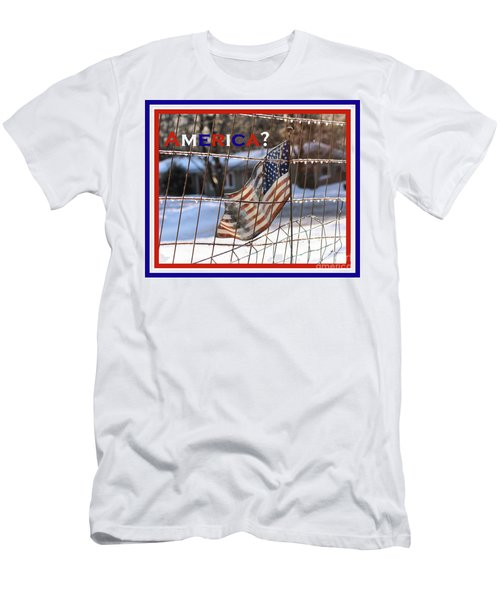 America Where Are We Men's T-Shirt (Slim Fit) by Smilin Eyes  Treasures