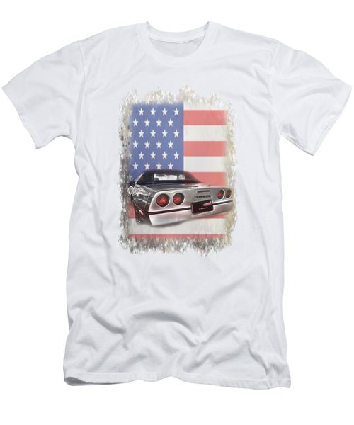Men's T-Shirt (Athletic Fit) featuring the photograph American Dream Machine by Judy Hall-Folde