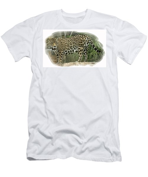 Men's T-Shirt (Athletic Fit) featuring the digital art American Jaguar 18 by Larry Linton