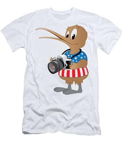 American Kiwi Photo Men's T-Shirt (Athletic Fit)