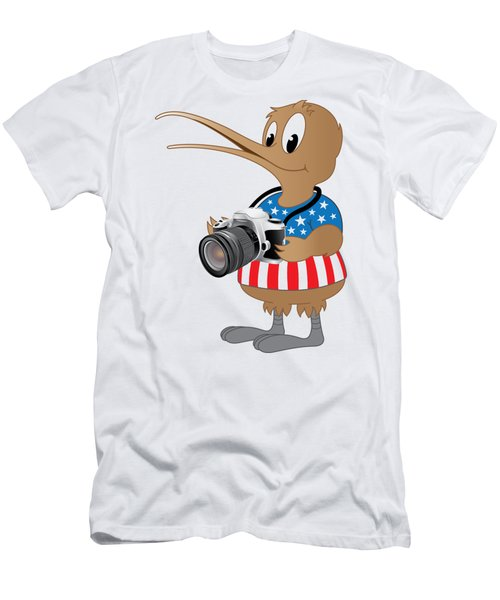 Men's T-Shirt (Athletic Fit) featuring the photograph American Kiwi Photo by Mark Dodd