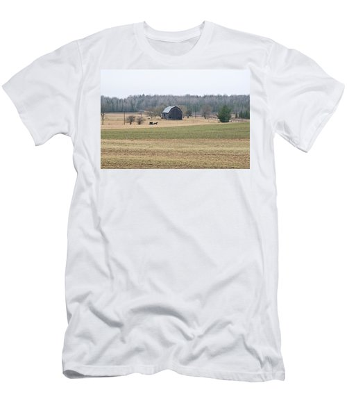 Men's T-Shirt (Slim Fit) featuring the photograph Amish Country 0754 by Michael Peychich
