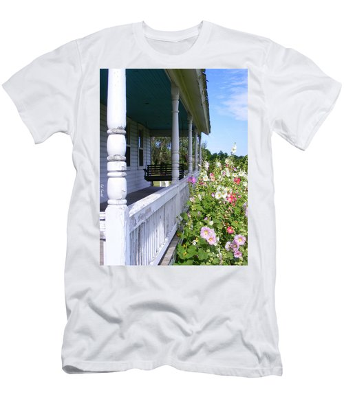 Amish Porch Men's T-Shirt (Athletic Fit)