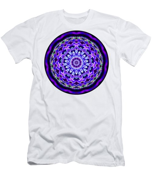 Men's T-Shirt (Athletic Fit) featuring the digital art Ammersee Cropcircle Lightmandala Morph by Robert Thalmeier