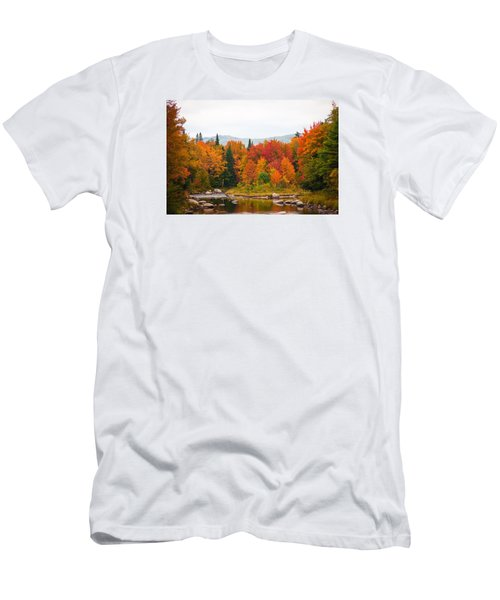 Men's T-Shirt (Slim Fit) featuring the photograph Ammonoosuc River by Robert Clifford