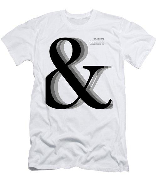 Ampersand - And Symbol - Minimalist Print Men's T-Shirt (Athletic Fit)