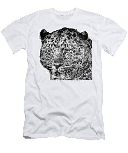 Amur Leopard Men's T-Shirt (Slim Fit) by John Edwards