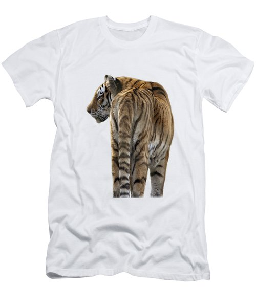 Amur Tiger On Transparent Background Men's T-Shirt (Athletic Fit)