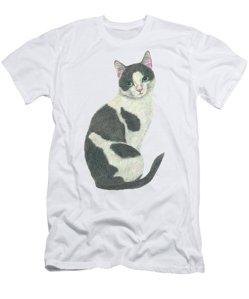 An Elegant Tuxedo Cat Men's T-Shirt (Athletic Fit)