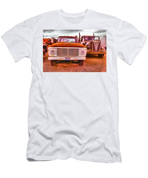 Men's T-Shirt (Slim Fit) featuring the photograph An Old Ford And Kenworth by Jeff Swan
