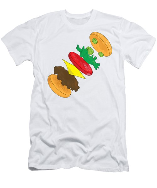 Anatomy Of Cheeseburger Men's T-Shirt (Athletic Fit)