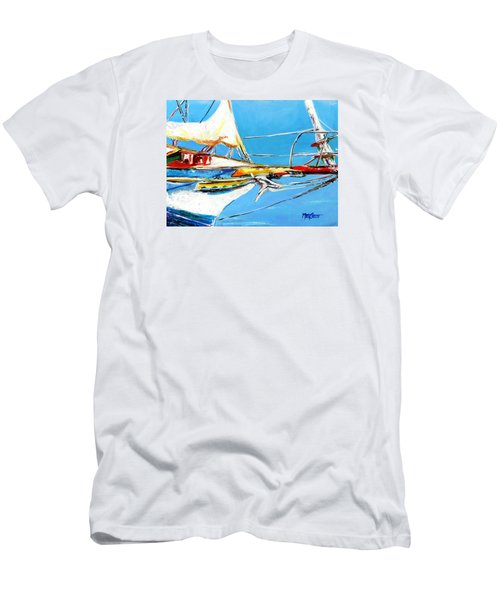 Anchored 2 Men's T-Shirt (Slim Fit) by Marti Green