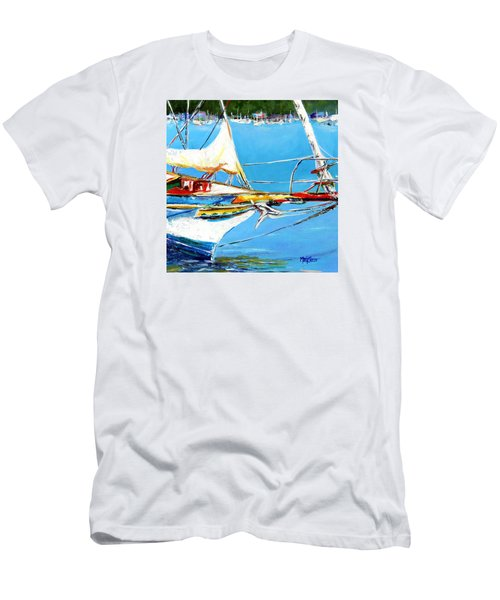 Anchored Men's T-Shirt (Slim Fit) by Marti Green