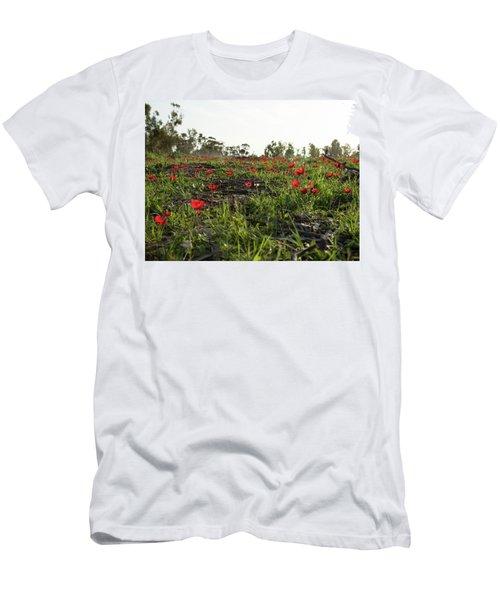 Anemones Forest Men's T-Shirt (Slim Fit) by Yoel Koskas