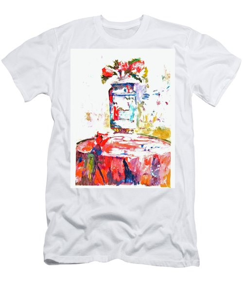 Anemones In A Chinese Vase After Edouard Vuillard Men's T-Shirt (Athletic Fit)