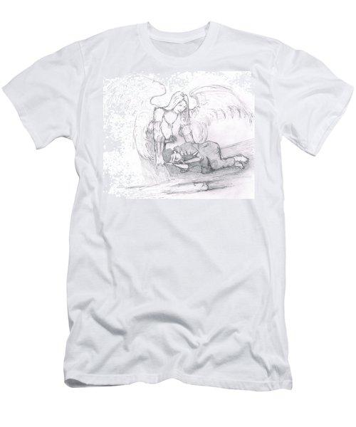 Angel And The Man Men's T-Shirt (Slim Fit) by Dan Twyman