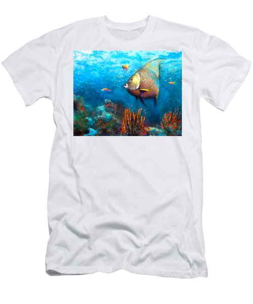 Men's T-Shirt (Athletic Fit) featuring the painting Angel Fish by Andrew King