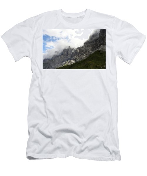 Angel Horns In The Clouds Men's T-Shirt (Athletic Fit)
