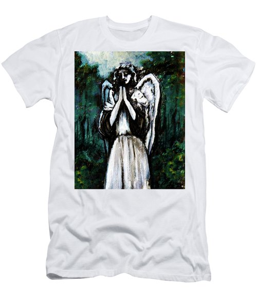 Angel In The Garden Men's T-Shirt (Athletic Fit)