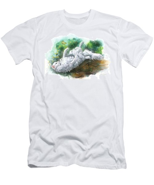 Men's T-Shirt (Slim Fit) featuring the painting Angel In The Morning by Sherry Shipley