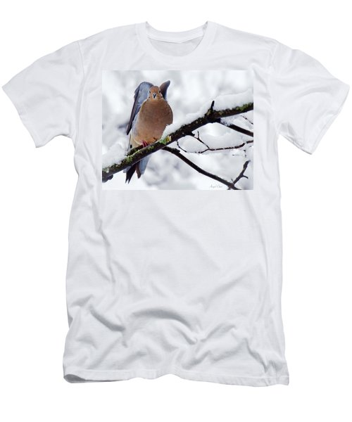 Men's T-Shirt (Athletic Fit) featuring the photograph Angel Mourning Dove by Angel Cher