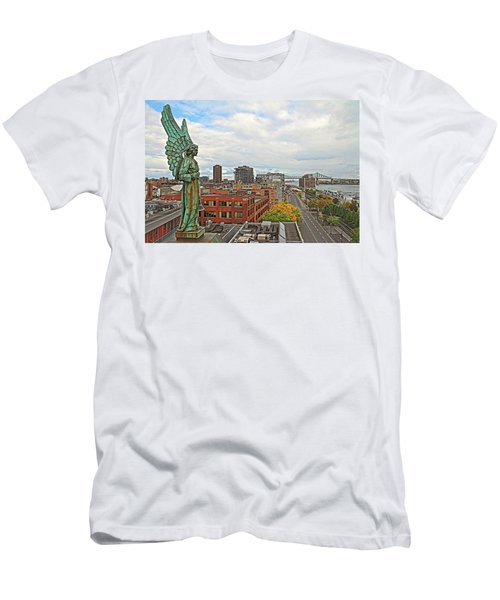 Angel Of Old Montreal Men's T-Shirt (Athletic Fit)