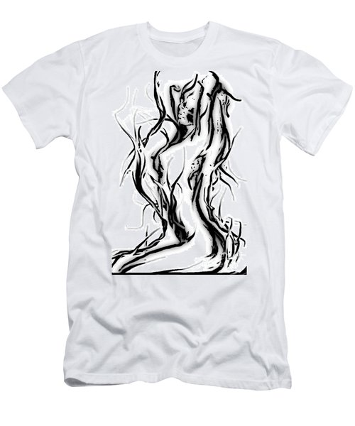 Men's T-Shirt (Slim Fit) featuring the painting Anger Management by Tbone Oliver