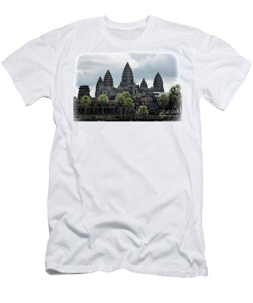 Angkor Wat Focus  Men's T-Shirt (Athletic Fit)