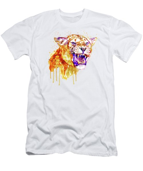 Angry Lioness Men's T-Shirt (Athletic Fit)