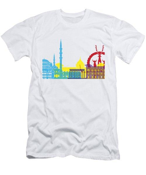 Ankara Skyline Pop Men's T-Shirt (Slim Fit) by Pablo Romero