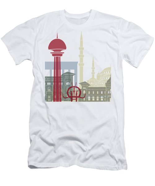 Ankara Skyline Poster Men's T-Shirt (Athletic Fit)