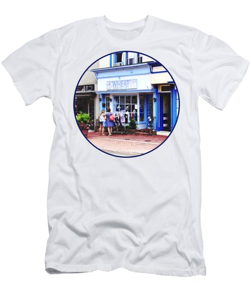 Annapolis Md - Shopping On Main Street Men's T-Shirt (Athletic Fit)