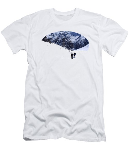 Annapurna Sanctuary Men's T-Shirt (Slim Fit) by Aidan Moran