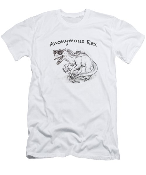 Men's T-Shirt (Athletic Fit) featuring the drawing Anonymous Rex T-shirt by Aaron Spong