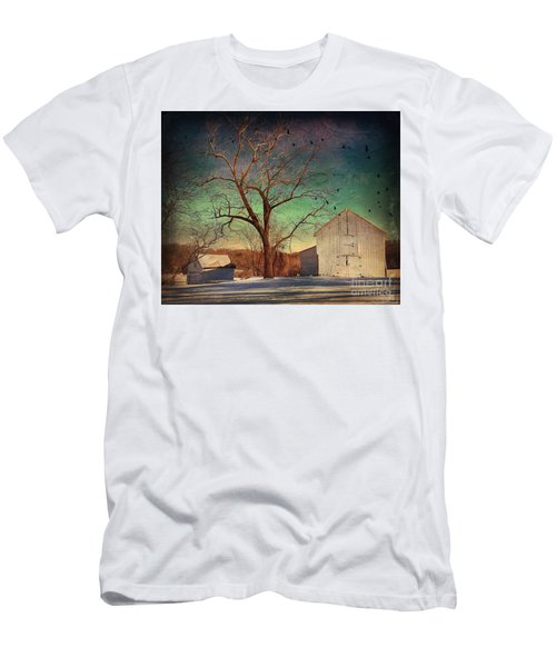 Another Winter Day  Men's T-Shirt (Slim Fit) by Delona Seserman