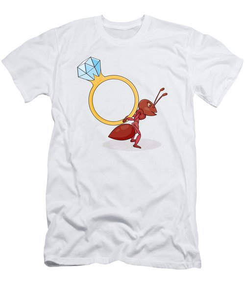 Ant With Big Ring Men's T-Shirt (Athletic Fit)