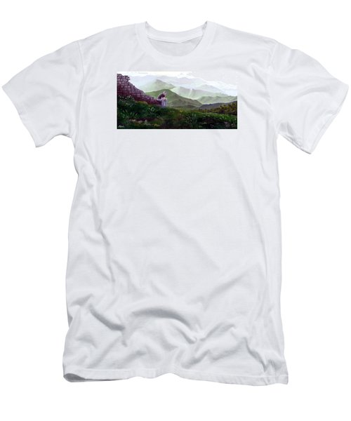 Antonio Atop La Rocca De Monte Calvo Men's T-Shirt (Athletic Fit)