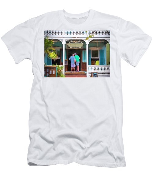 Anybody Home Men's T-Shirt (Slim Fit) by Judy Kay
